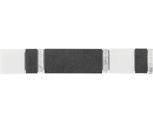 Bordüre schwaz 4,8x29,8 cm