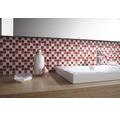 Glasmosaik rot/weiß mix 30,2x32,7 cm 4mm stark
