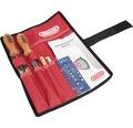 Schärfset OREGON in Tasche 4,5 mm inkl. Flachfeile mit Holzgriff, Feilenhalter, Schertnutreiniger und Tiefenbegrenzerlehre