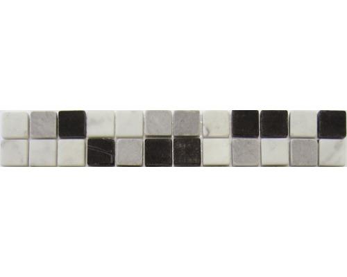 Natursteinbordüre schwarz 4,8x29,8 cm
