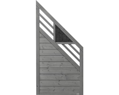 Abschlusselement Konsta Andria rechts 90 x 180/90 cm, grau