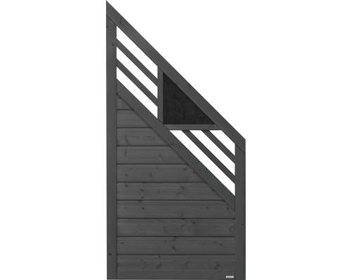 Abschlusselement Konsta Andria rechts 90 x 180/90 cm, anthrazit