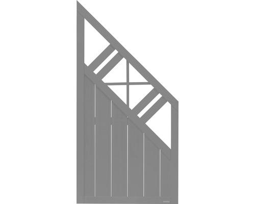 Abschlusselement Konsta Provence rechts 90 x 180/90 cm, grau