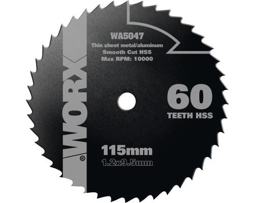Kreissägeblatt Ø 115x9,5 mm Worx Z 60 W-Zähne