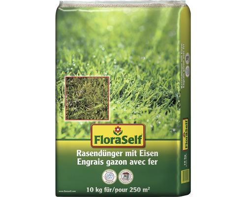 Rasendünger mit Eisen FloraSelf 10 kg 250 m²