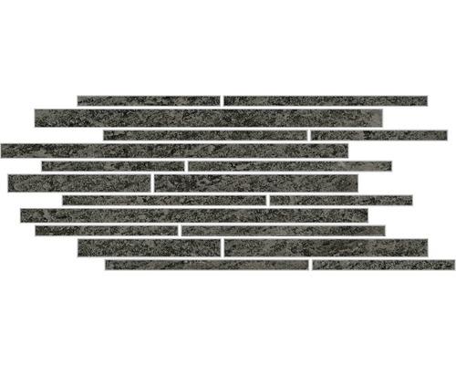 Feinsteinzeug Dekorfliese Discovery Carbon Muretto 30 x 60 cm