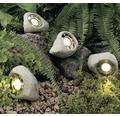 LED Beleuchtete Steine Set 3x2W 3x120 lm 3000 K warmweiß grau/weiß 3 Stück