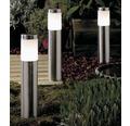 LED Außensockelleuchte 3tlg. IP44 3x2W 90 lm 3000 K warmweiß edelstahl H 310 mm 12V