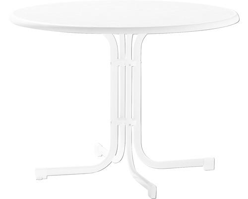 Gartentisch Sieger Mecalit Ø 100 H 72 cm weiß