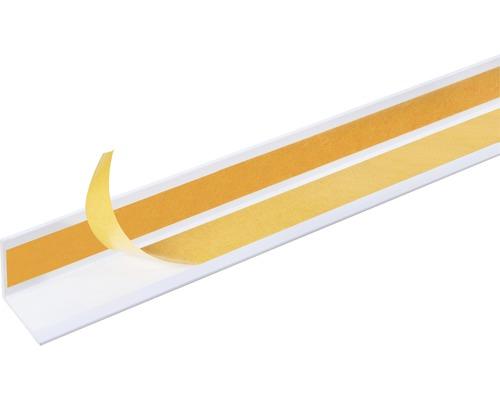 Winkelprofil Kunststoff weiß 10x10x1 mm, 2,6 m selbstklebend