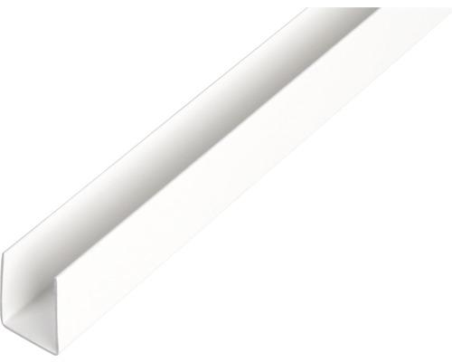 U-Profil Kunststoff weiß 10x12x10x1 mm, 2,6 m