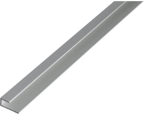 Kantenabschlussprofil Aluminium 20x9x1,5 mm, 1 m