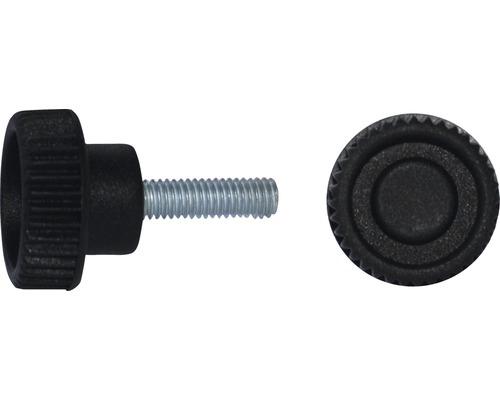 Rändelgriffschraube Ø 26 mm M8x40 schwarz, 20 Stück
