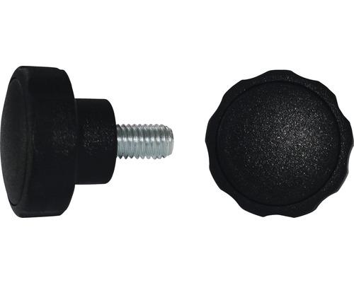 Sterngriffschraube Ø 40 mm M6x23 schwarz, 20 Stück
