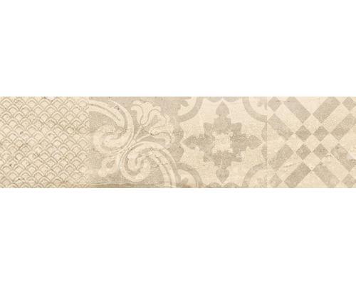 Feinsteinzeug Dekorfliese Slab Beige 15 x 60 cm