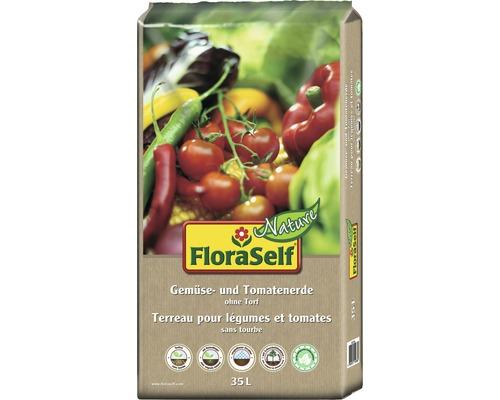 Tomatenerde und Gemüseerde FloraSelf Nature torffrei 35 L
