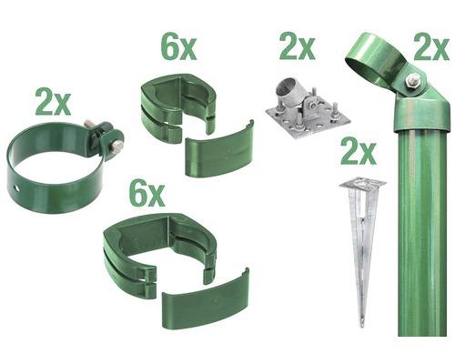 Zaunanschluss-Set, FixClip, zum Aufschrauben, 102 cm, grün