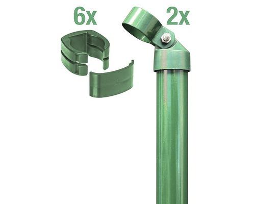 Zauneck-Set, FixClip, zum Einbetonieren, 102 cm, grün