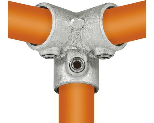 Dreiweg-Eckstück Buildify 90° Rohrverbinder für Gerüstrohr aus Stahl Ø 33 mm