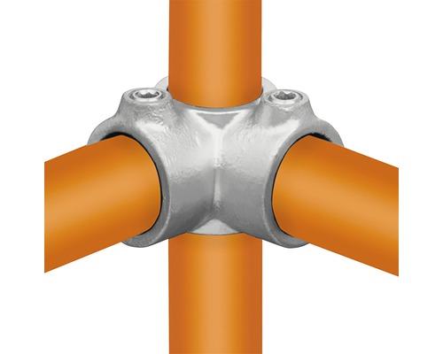 Eckstück Buildify Rohrverbinder für Gerüstrohr aus Stahl durchgehend Ø 33 mm