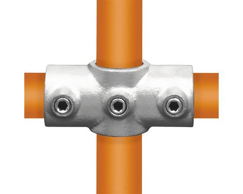Kreuzstück Buildify Rohrverbinder 90° für Gerüstrohr aus Stahl durchgehend Ø 33 mm