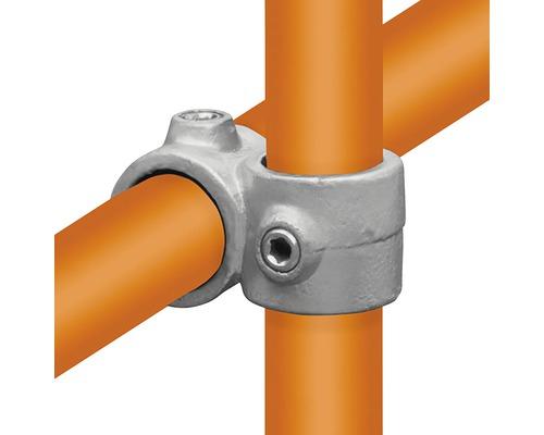 Kreuzstück Buildify Rohrverbinder 90° vorgesetzt für Gerüstrohr aus Stahl Ø 33 mm