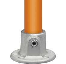 Fußplatte Buildify rund für Gerüstrohr aus Stahl Ø 33 mm