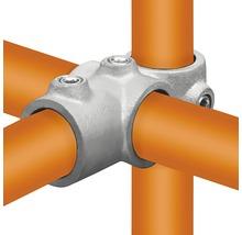 Kreuz-T-Stück Buildify kombiniert 90° für Gerüstrohr aus Stahl Ø 33 mm