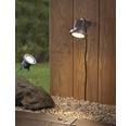 LED Pflanzenleuchten Set 3x3W 3x50 lm 3000 K warmweiß Outdoor alufarben