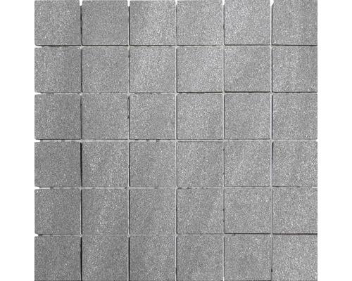 Feinsteinzeugmosaik Helios grau matt 30x30 cm