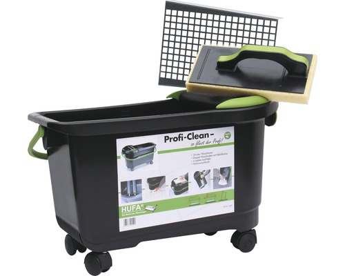 ProfiClean Fliesen-Waschset Hufa Spezial 9449 inkl. Wascheimer, Fliesenwaschbrett und Bodensieb
