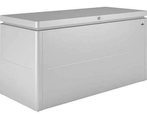 Auflagenbox biohort LoungeBox 160 160 x 70 x 83,5 cm silber-metallic