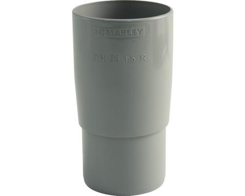 Rohrmuffe 53 mm grau