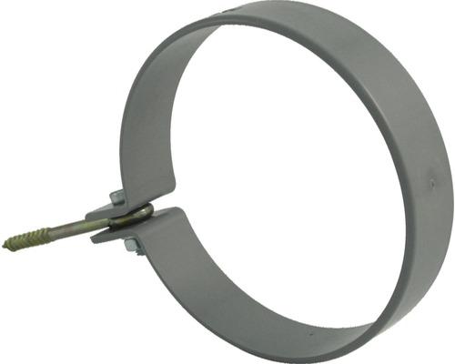 Rohrschelle 53 mm grau