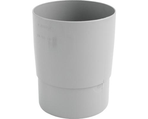 Rohrmuffe 105 mm grau