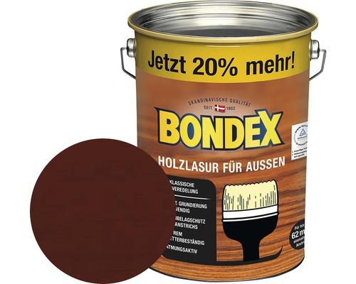 BONDEX Holzlasur rio palisander 4,8 l (20 % Gratis!)