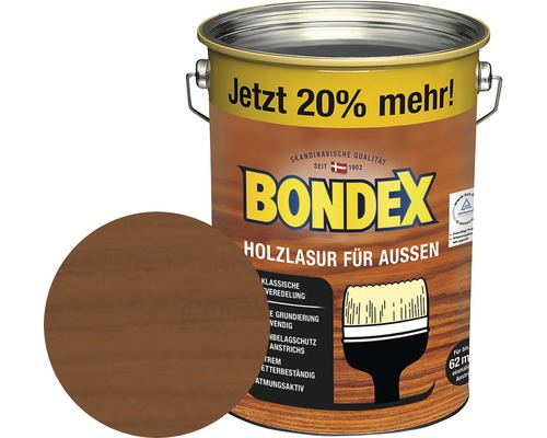 BONDEX Holzlasur teak 4,8 l (20 % Gratis!)