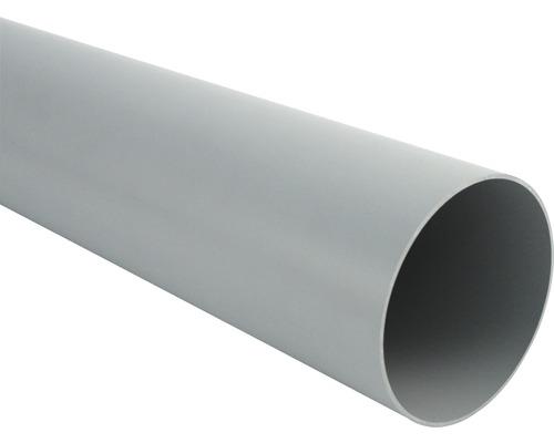 Fallrohr 105 mm grau