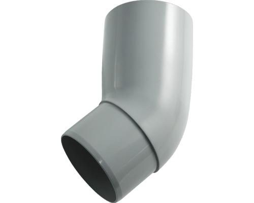 Rohrbogen 105 mm 45 Grad grau