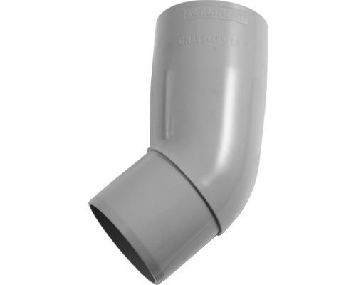 Rohrbogen 53 mm 45 Grad grau
