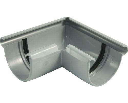 Außeneckstück 75 mm grau