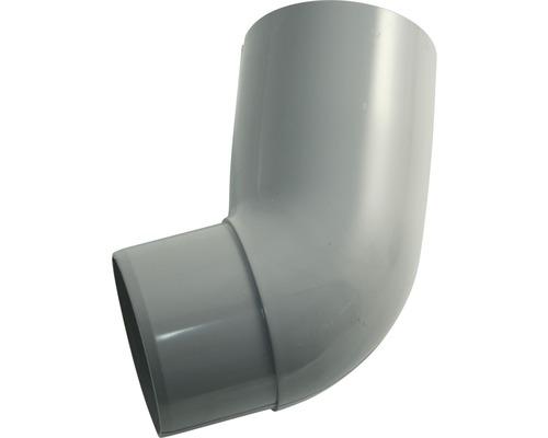 Rohrbogen 105 mm 67 Grad grau