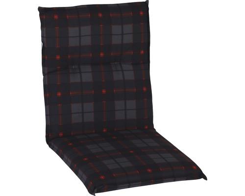 Auflage für Niederlehner Baumwolle schwarz-rot