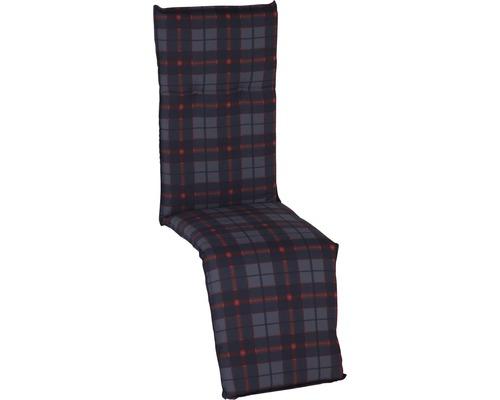 Auflage für Relaxstuhl Baumwolle schwarz-rot