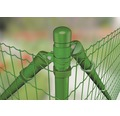 Zauneck-Set, FixClip, zum Einbetonieren, 122 cm, grün