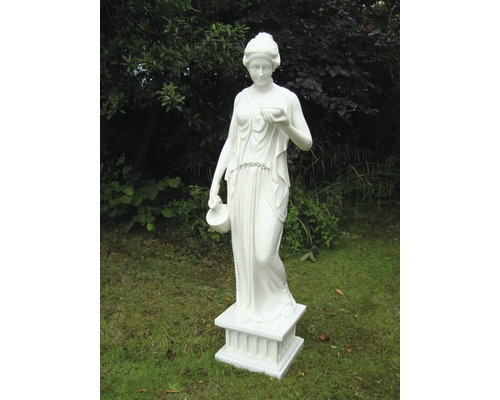 Gartenfigur Hebe Polyresin 21 x 17 x 80 cm, weiß