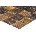 Glasmosaik GM GS 505254 30,5x32,7 cm braun/gold
