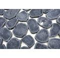 Natursteinmosaik XKS 402 31,5x31,5 cm schwarz
