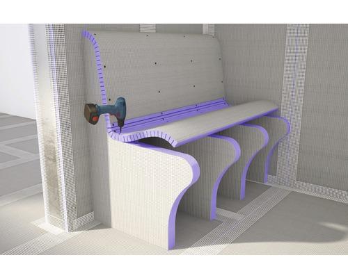 Jackoboard Flexo-Plus 2600x600x30 mm längsgeschlizt 15 mm einseitig beschichtet