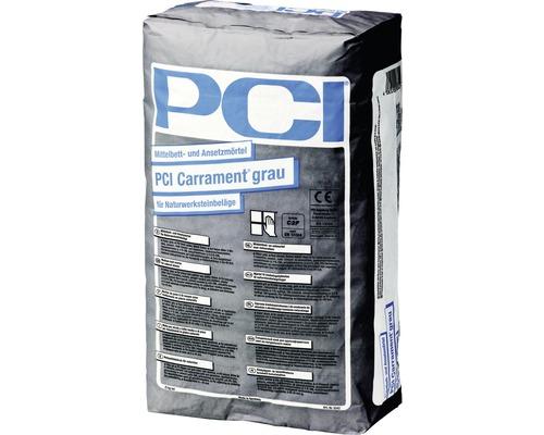 PCI Carrament Mittelbett- und Ansetzmörtel für Naturwerksteinbeläge grau 25 kg